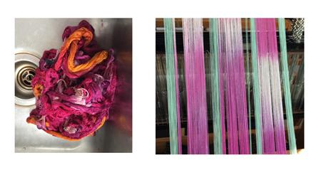 hand painted silk - 2 views