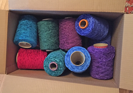 rayon chenille yarn arrived