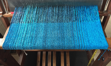 Into the Blue rayon chenille shawls
