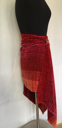 fire coals rayon chenille skirt