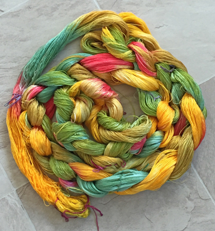 Mallard yarn chained