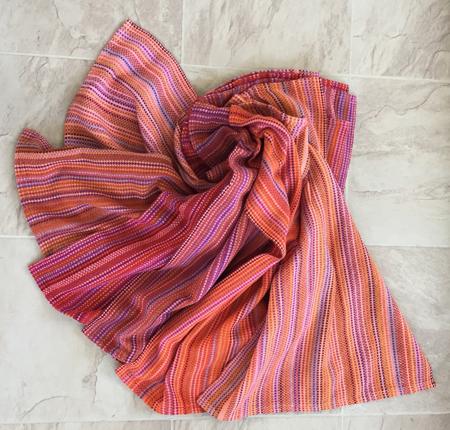 all six towels twirled together