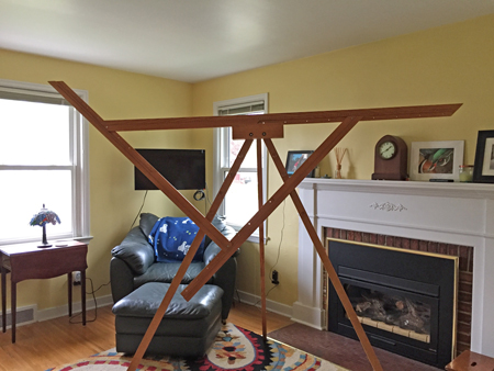 triangle loom set up