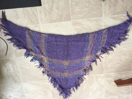 triangle shawl washed