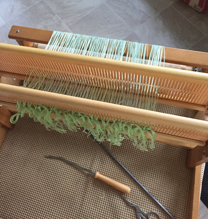 2nd heddle stand installed on my rigid heddle loom