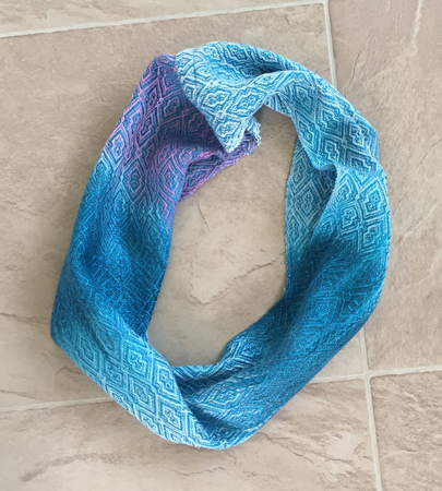 hand painted short tencel cowl