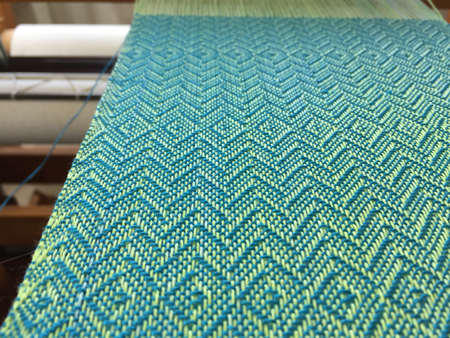weaving with a commercial weft