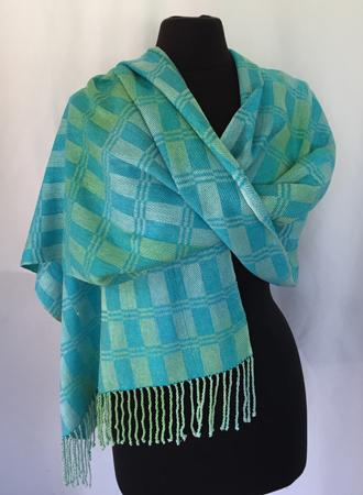Caribbean silk shawl