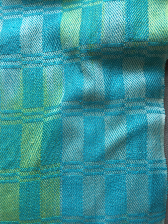 Caribbean silk shawl, closeup