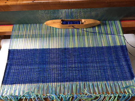 cotton & rayon chenille on loom