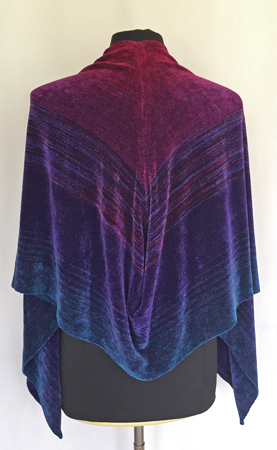 royal gems shaped shawl, back
