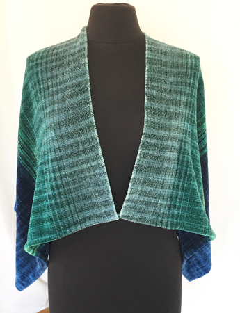 shawl drape front