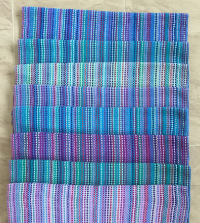 8 handwoven towels