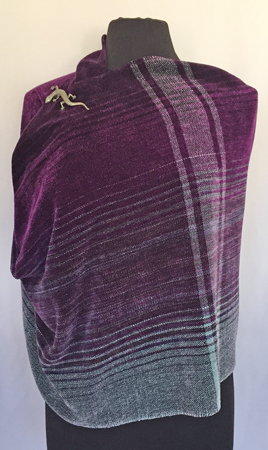 cowl-wrap with brooch