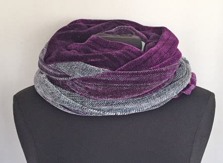 cowl-wrap doubled