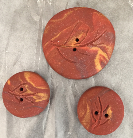 3 etched buttons
