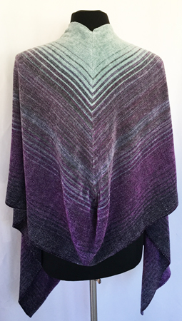 midnight moon shawl, back