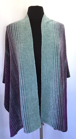 midnight moon shawl, front