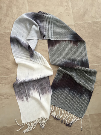 black & white gradient scarf
