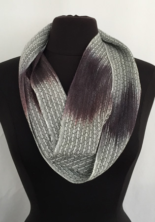 black & white dark gray cowl