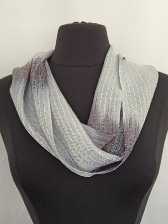 black & white silver cowl