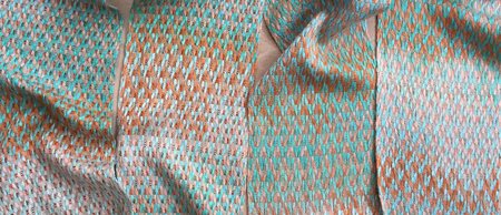 2 terra cotta & turquoise scarves