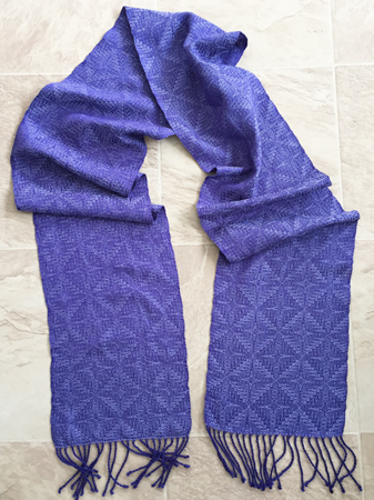 pansy silk and periwinkle tencel scarf