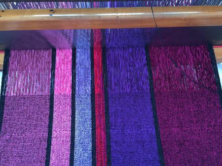 Valentine shawls on the loom