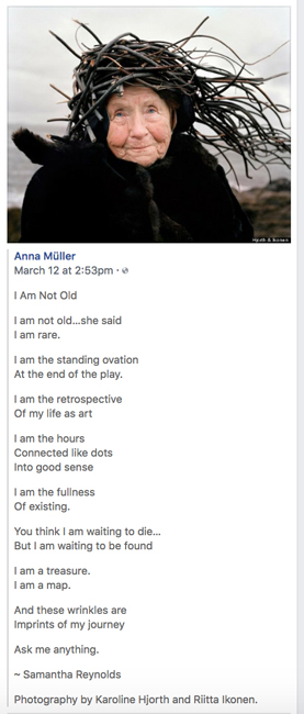 I am not old poem