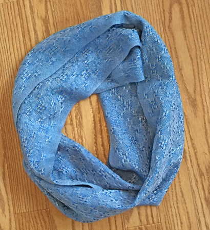 silver & blue lace cowl