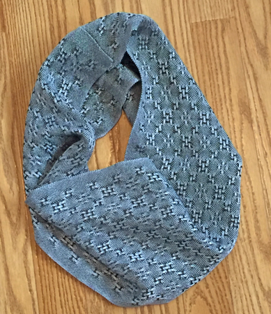 silver & slate lace cowl