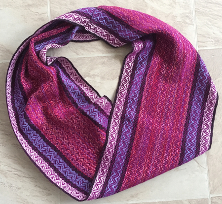 springtime cowl with red-violet