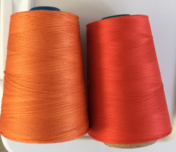 two orange mercerized cottons