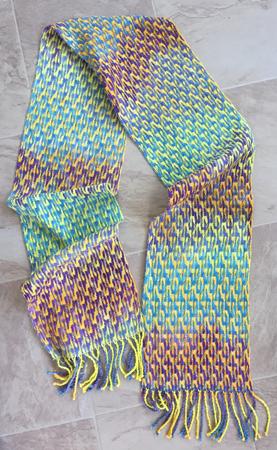 deflected doubleweave scarf