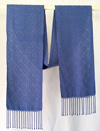 2 blues silk lace