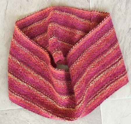 handwoven wool & rayon cowl