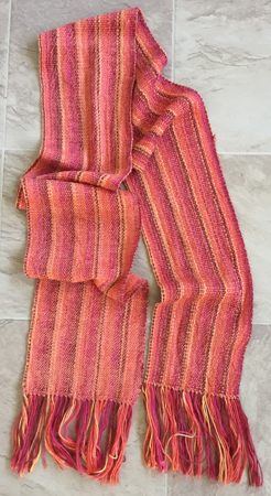 handwoven wool & rayon scarf