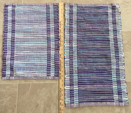 rep weave off the RH loom