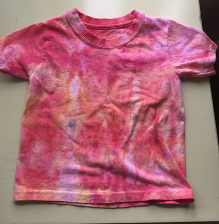 red iced-dyed Tshirt