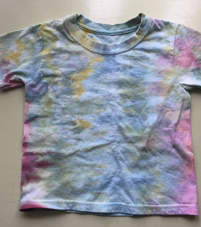 blues & greens ice-dyed Tshirt