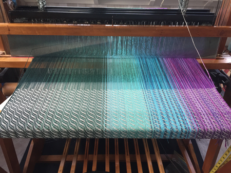 white weft on shrug warp