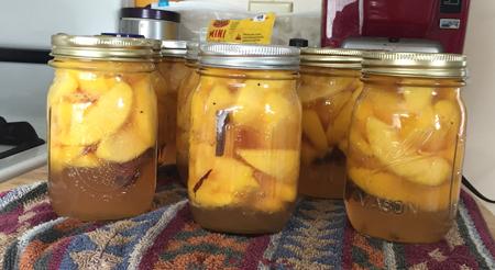 vanilla spice peaches