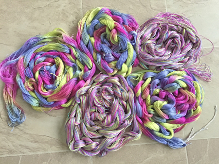 warp dyed vs skein dyed yarn