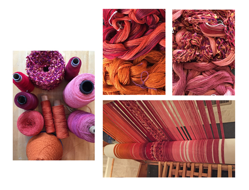 orange to rose yarns