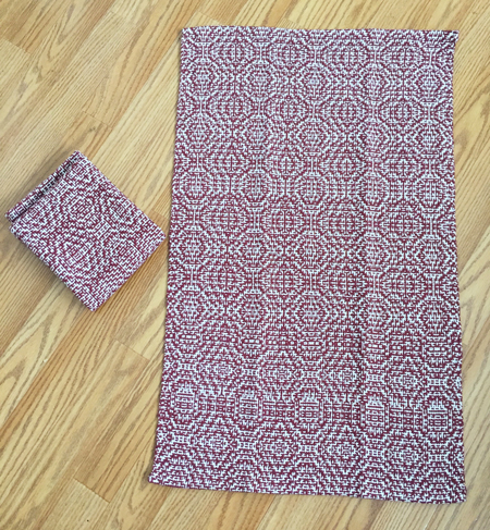 1st 2 cranberry color-&-weave towels
