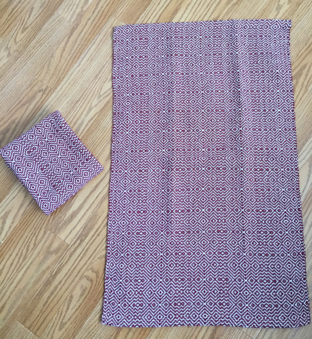 cranberry color-&-weave towels3