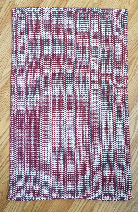 cranberry color-&-weave towel 2