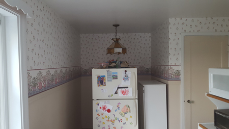kitchen alcove before