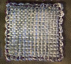 purple-blue weavie coasters, bottom