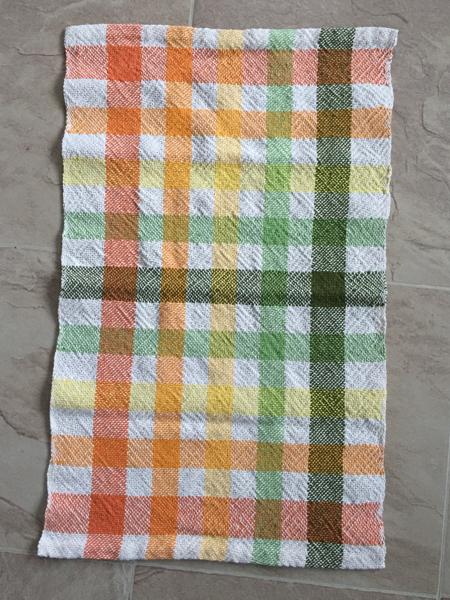 white weft towel, plain weave